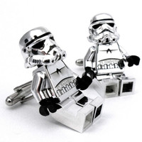 LIMITED Chrome LEGO Star Wars Storm Trooper Cufflinks by Cufflinks