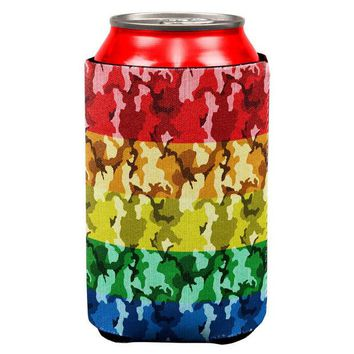 DCCKU3R LGBT Camo Pride In The Military All Over Can Cooler