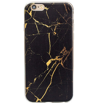 Cool Black Marble Grain iPhone 5s 6 6s Plus Case Gift + Free Gift Box