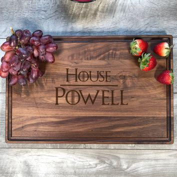 Game Of Thrones Gift. Cutting Board. House Of. Personalized. Wood. GOT gift. Personalized Game of Thrones Gift. Housewarming. #46