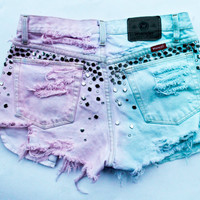 pastel pink and aqua ombre / Wrangler vintage by todyefordenim
