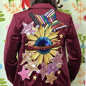 New Vintage Planets and Stars Blazer