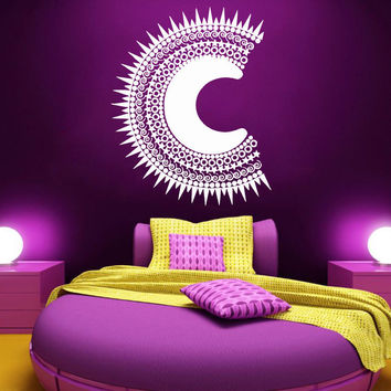 Sun Wall Decal Bedroom Night Boho Sun and Moon Ethnic Wall Decor Stickers SM176