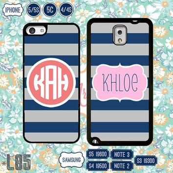 Personalize monogram Samsung Galaxy S5 case Samsung S4 cover Galaxy S3 , Samsung Note 3 Note 2 , IPhone 5S , iPhone 5 , 5C , IPhone 4 4S L85