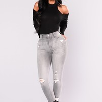 Mysterious Gal Jeans - Grey