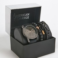 Men American Exchange Watch & Bracelet Set