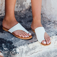 Buy Farrah Slides - White Online by SABO SKIRT