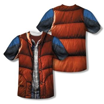 Back To The Future McFly Vest All Over Sublimation Poly Licens Adult Shirt S-3XL