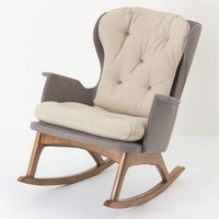 Colorblock Finn Rocker by Anthropologie Icicle One Size Furniture