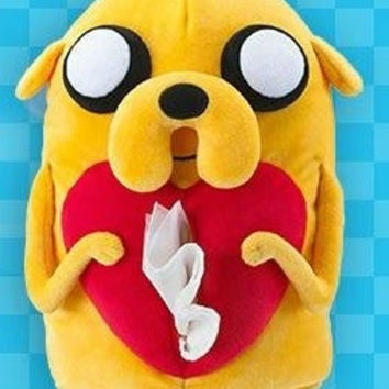 "Adventure Time Taiwan Hi-Life Limited Jake the Dog Ver 15"" Tissue Paper Bag Plush Doll Figure"