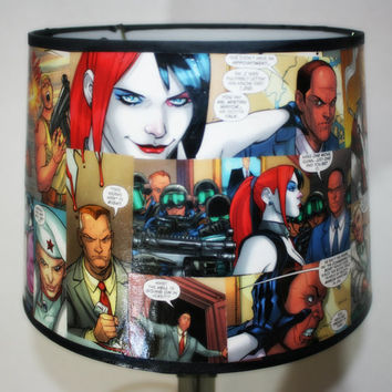 Harley Quinn Custom Comic Book Lamp