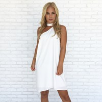 City Nights Shift Dress in White