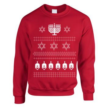 Happy Hanukkah Ugly Christmas Jewish Sweater