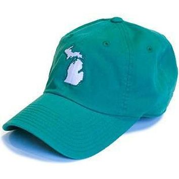 Michigan East Lansing Gameday Hat in Green by State Traditions