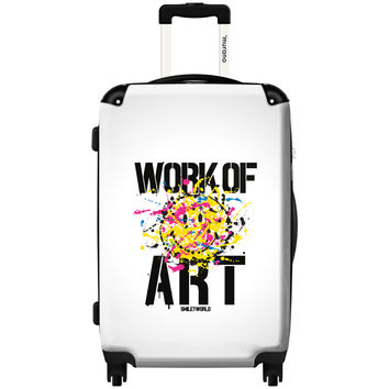 Murano by iKase Work of Art by Smiley 24-inch Hardside Spinner Upright Suitcase