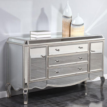 Elegant Lighting - Buffet/Dresser, Gold/Clear mirror