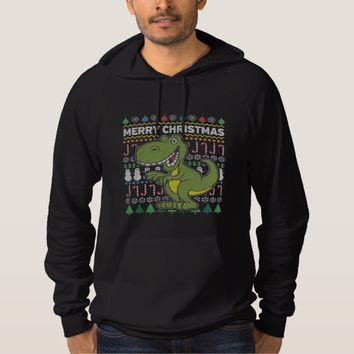 Wildlife Green Dino Merry Christmas Ugly Sweater