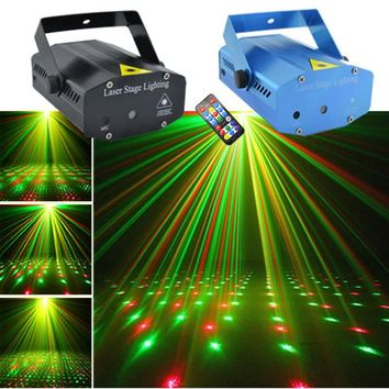 AUCD Mini Portable RG Laser Projector Lights DJ Home Xmas Party Holiday Show Stage Lighting OI100