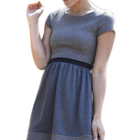 Quilted Skater Knit Dress