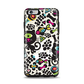 The Cute, Colorful One-Eyed Cats Pattern Apple iPhone 6 Plus Otterbox Symmetry Case Skin Set