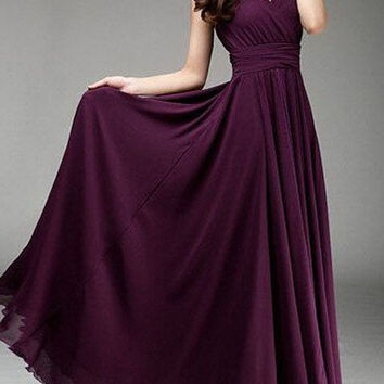 summer style Bohemian fashion Long dress women's casual v-neck short sleeve high waist Maxi dresses plus size clothing