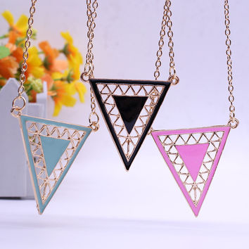 Acrylic Triangle Necklace