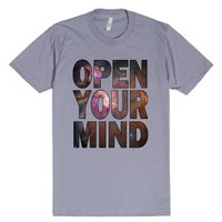 Open Your Mind-Unisex Slate T-Shirt