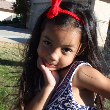 Child's headband or belt. Red and perfect little stocking stuffer or added touch to any party dress