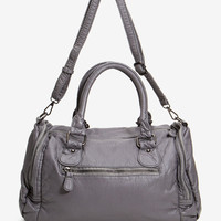 Naomi Zipper Trim Satchel Bag