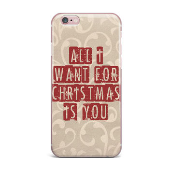 "Sylvia Cook ""All I Want For Christmas"" Holiday iPhone Case"