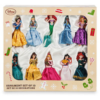 Disney Store 10 Glitter Princess with their Friends Sketchbook Ornament New Box