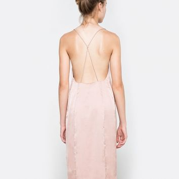Stelen / Kate Slip Dress in Cognac