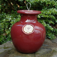 Glazed Down Under Pots - BURGUNDY DOWN UNDER POT