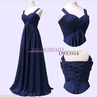 Custom Size Straps Prom Evening Gown Formal Bridesmaid Dress A-line Simple Long Dress Sexy Long white Prom Evening Dress