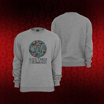 5SOS flower sweater Sweatshirt Crewneck Men or Women Unisex Size