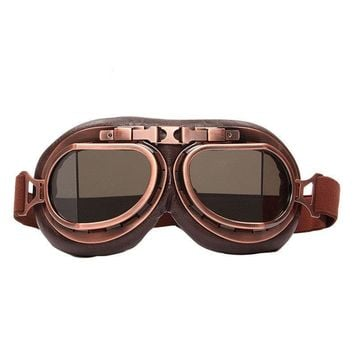 Retro Aviator Goggles, Steampunk Goggles, Motorcycle Pilot Glasses, Goggles For Harley, Cruiser Scooter Biker