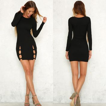 CutOut Black Bodycon Dress