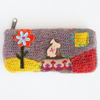 Pouch:  Dog  Wood  Button  Pouch  From  Natural  Life