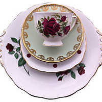 Rose & Gold Mixed China, 4 Pcs