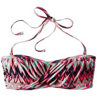 Xhilaration® Junior's Bandeau Swim Top -Zig Zag Print