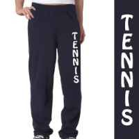 Tennis Fleece Sweatpants Adult Medium on Navy