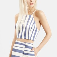 Women's Topshop Stripe Crop Top ,