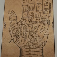 17th century Palmistry Chart wall art by InfiniteArts on Etsy