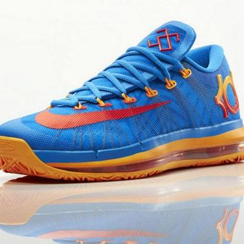 Buy 2018 Nike KD 6 Elite Team Orange Royal Blue OKC Brand sneaker