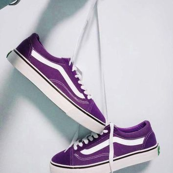 VLXZRBC VANS Old Skool Vintage Casual Sports Sneakers Shoes purple H-CSXY