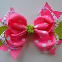 "5"" Boutique Ring Hair Bow Funny Girl Designs"