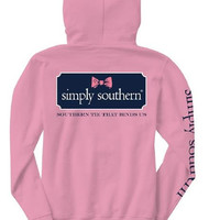 "Simply Southern ""Bow Logo"" Hooded Long Sleeve"