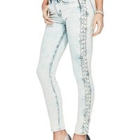 Corset Mid-Rise Skinny Jeans at Guess