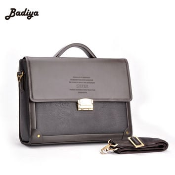 2017 New Men Business Briefcase With Lock Fashion Shoulder Bag Classic Style Case Messenger Shoulder Attache Portfolio Tote