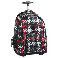Gear-Up Red Houndstooth Rolling Backpack